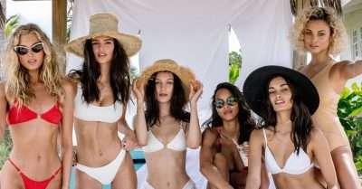Las Modelos contratadas anunciando Fyre Festival