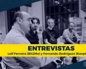 Leif Ferreira de Bit2Me y Fernando Rodríguez de KeepCoding