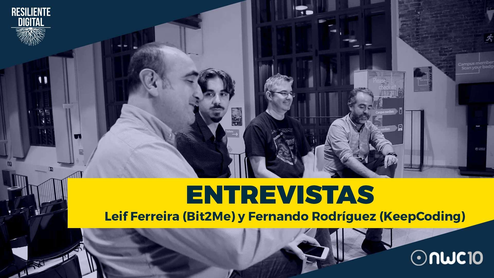 Entrevista a Leif Ferreira de Bit2Me y Fernando Rodríguez de KeepCoding