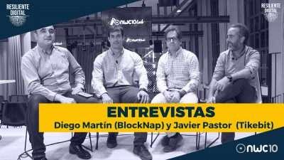 Diego Martín de Blocknap y Javier Pastor de Tikebit
