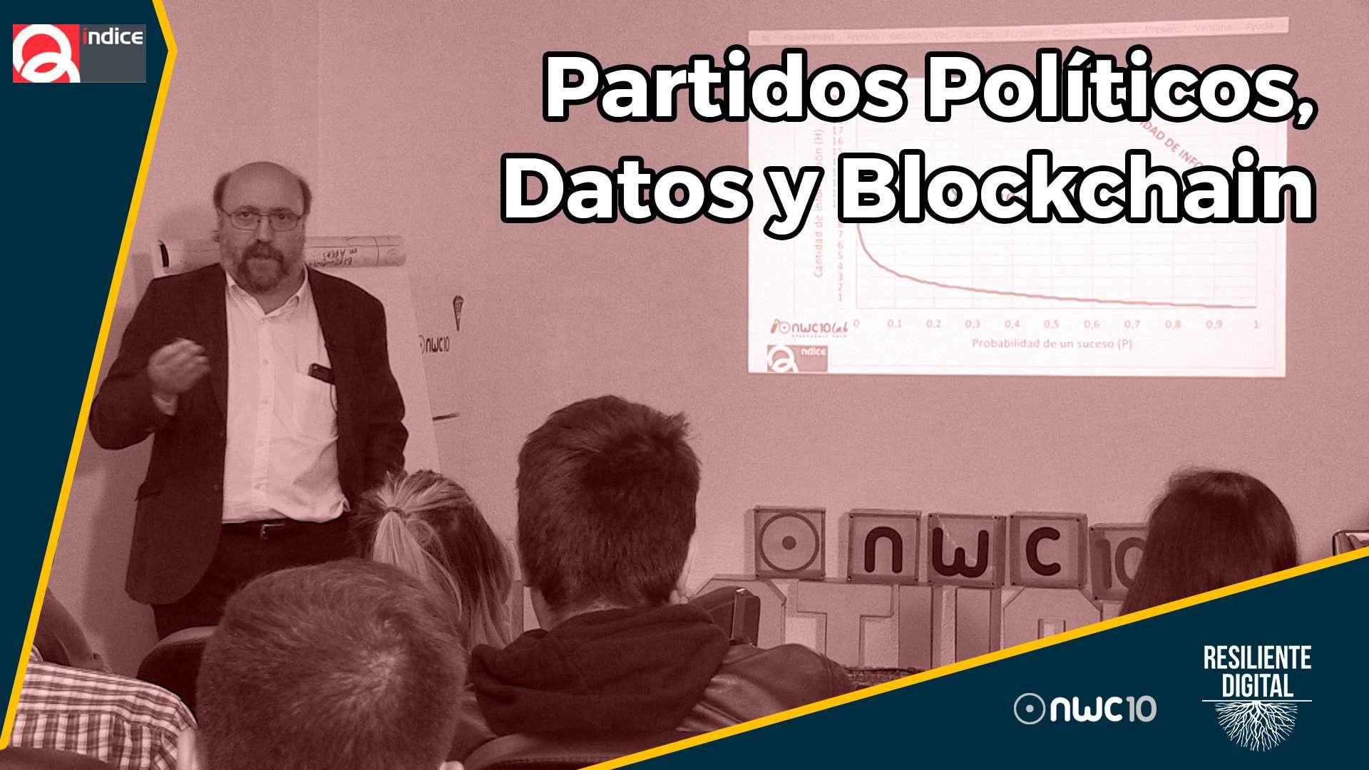 Partidos políticos, datos y blockchain