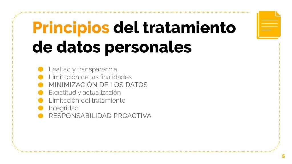 Principios del Tratamiento de Datos Personales en el RGPD