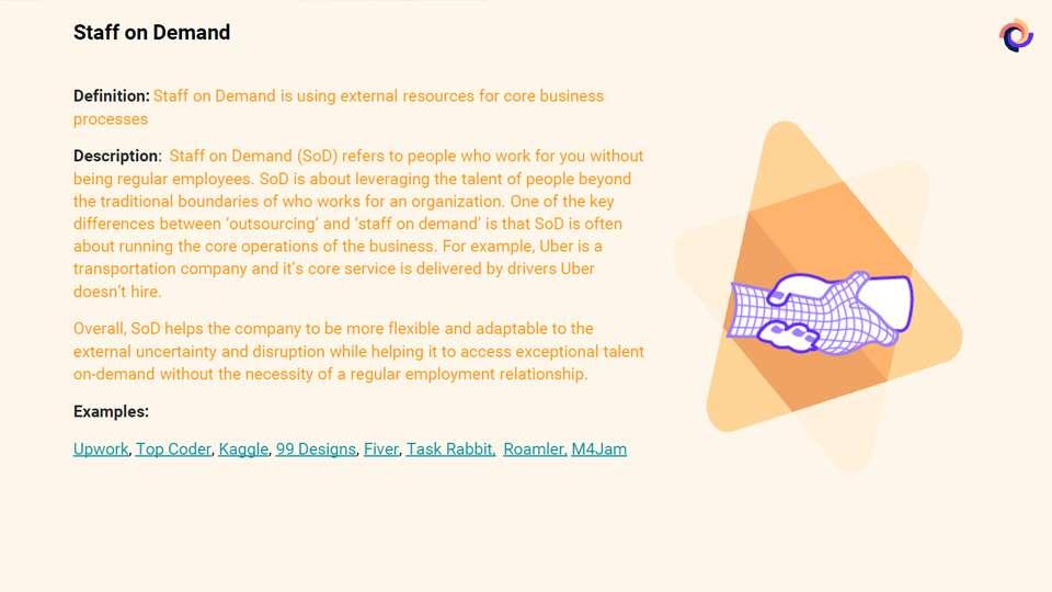 Staff on Demand definido por ExO. Fuente OpenExo