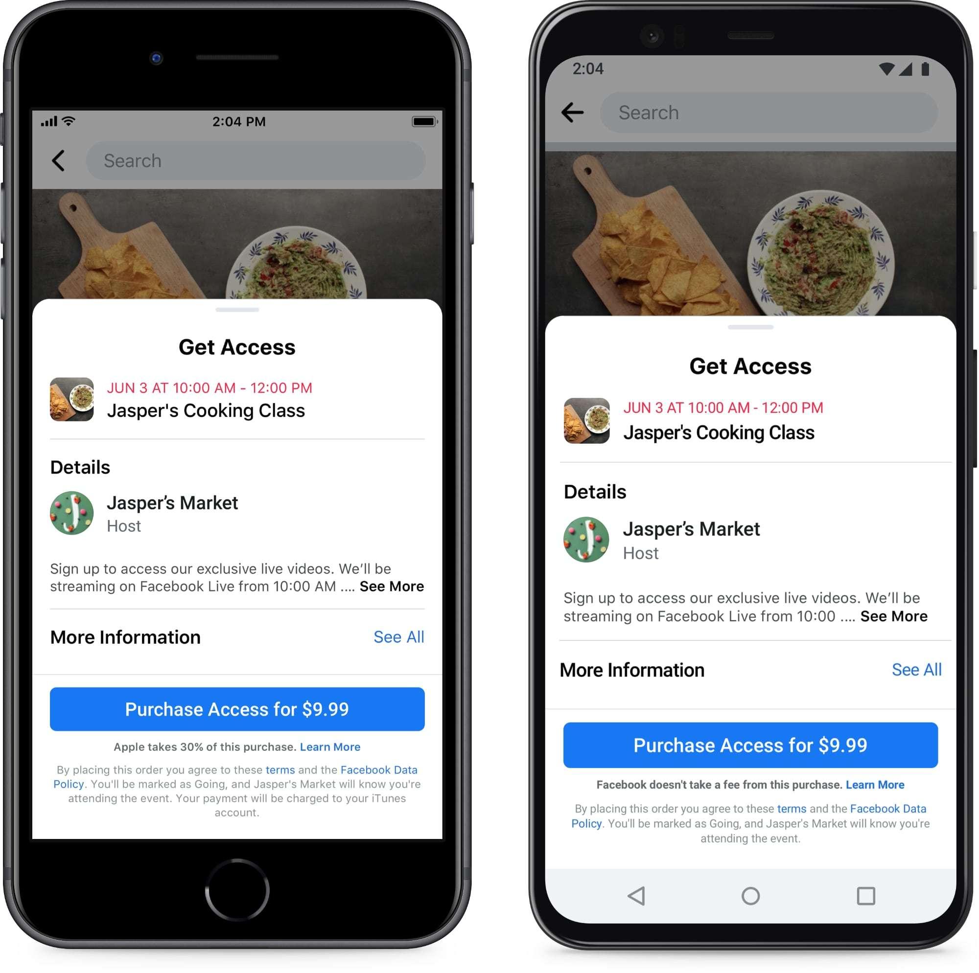 Facebook acaba de lanzar una app para apoyar eventos de pago de pequeñas empresas
