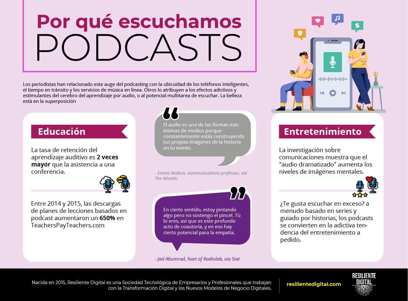 por qué escuchamos podcasts